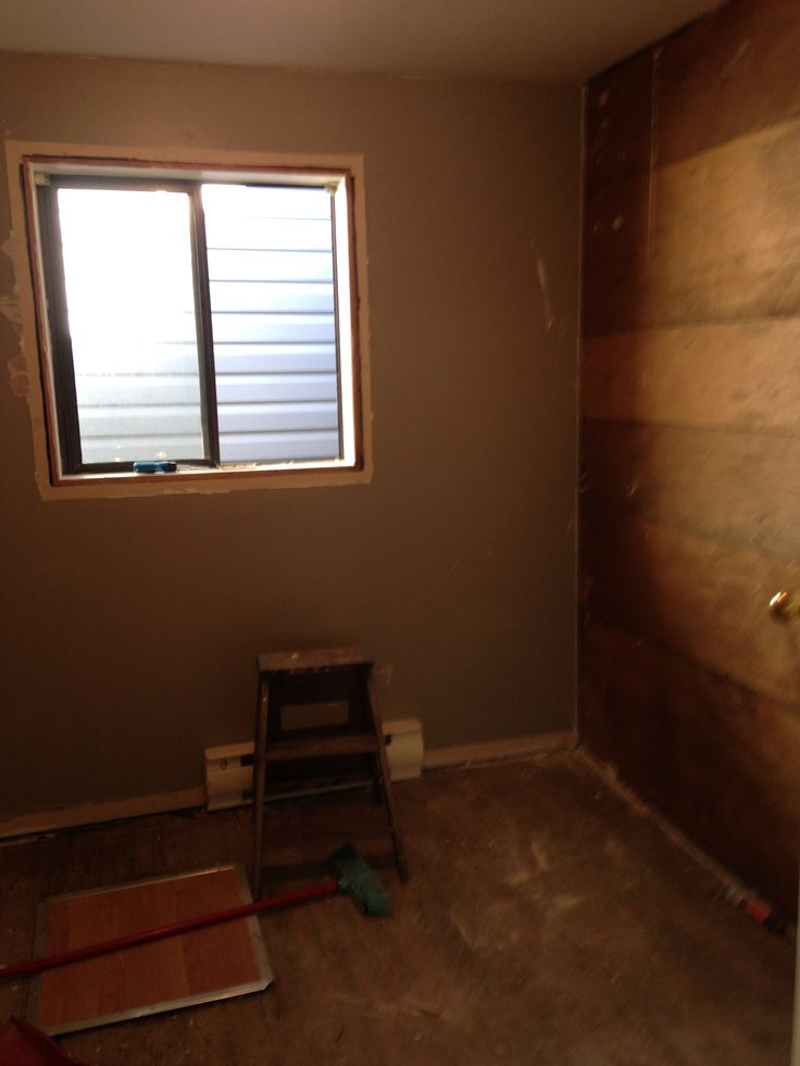 the old laundry room before I opened up the wall on the right to bedroom. Put in new window, floor, pine on ceiling.