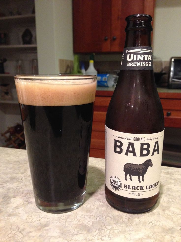 Uinta Baba Black Lager:  Day 80: Uinta Baba Black Lager from Uinta Brewing Company. Style of beer is 'Schwarzbier (Black Beer)'. ABV is 4.0%.   Read more at http://www.beerinfinity.com/beer-of-the-day-uinta-baba-black-lager/.