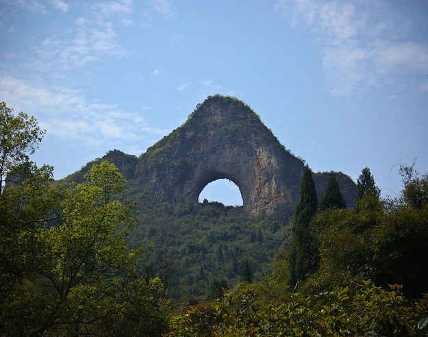 Moon Hill in Yangshuo, China | 25 Surreal Places You Won't Believe Actually Exist