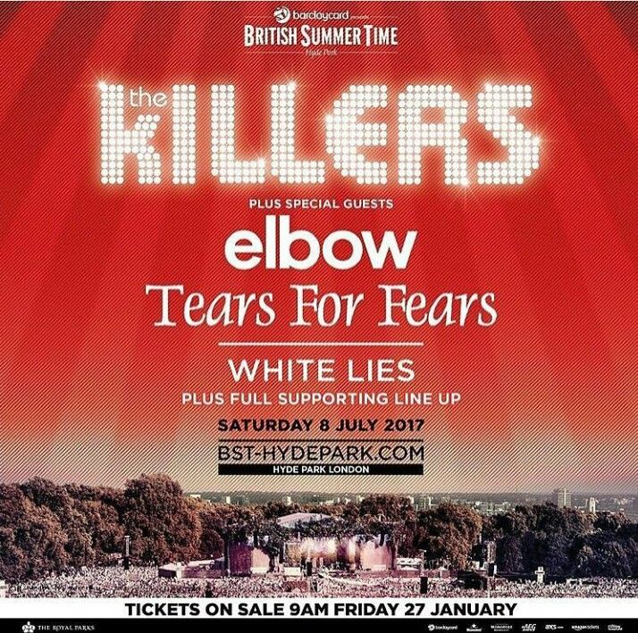 The Killers have be addes to the BST Hyde Park line up