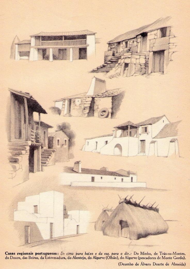 Casas Tradicionais Portuguesas - desenhos