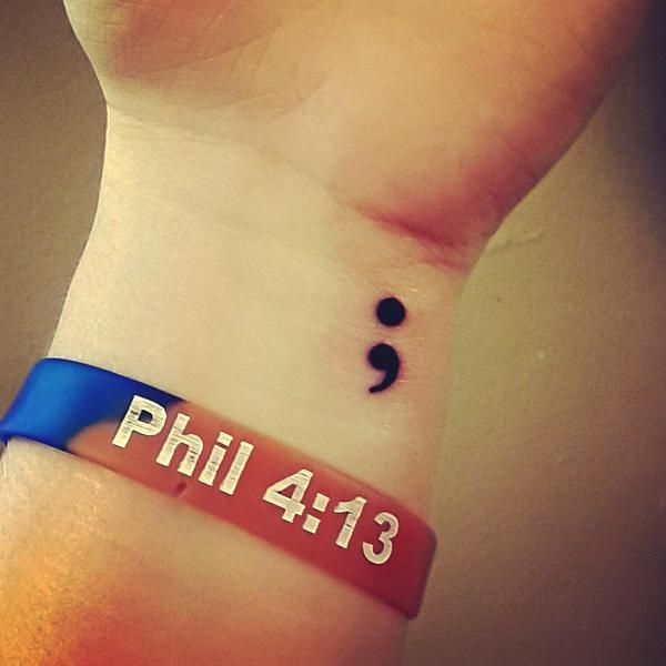 Minimalistic tattoos semi colon. Among the millions of designs, there are some that hold a special meaning that transcend languages and cultures. Here are the most powerful tattoos..