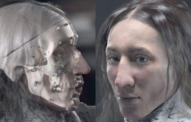 Reconstitution du visage de Thomas Carven