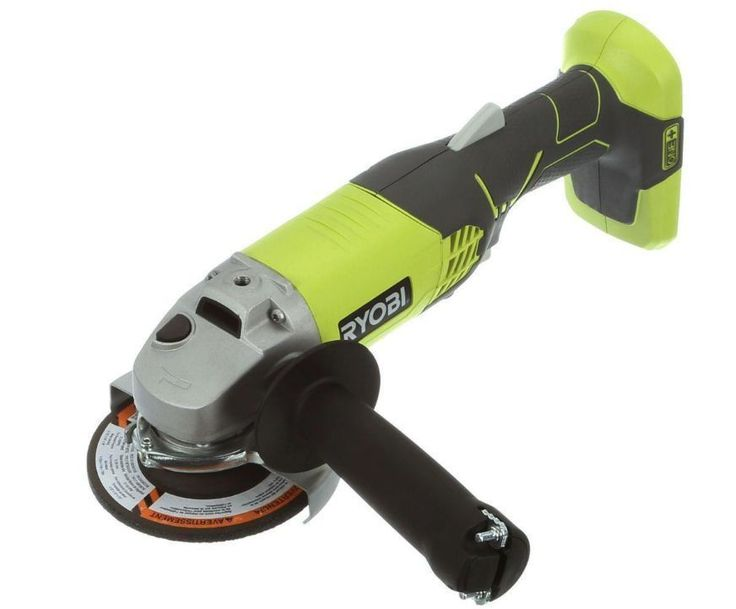 New 18 Volt Battery Cordless Power 4 1/2 Angle Grinder Workshop Tool Only P421 #RYOBI