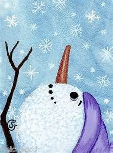 Snowman Paintings On Canvas - Bing images