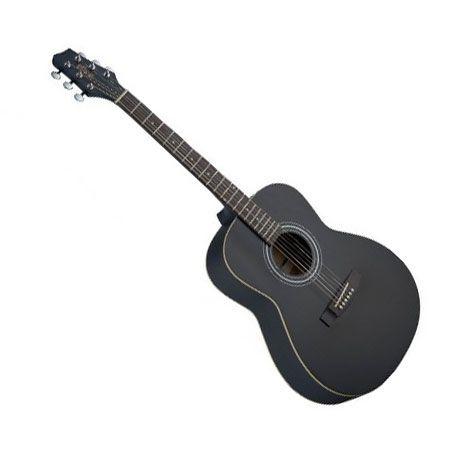 stagg sa30a bk auditorium acoustic guitar matte black. Black Bedroom Furniture Sets. Home Design Ideas