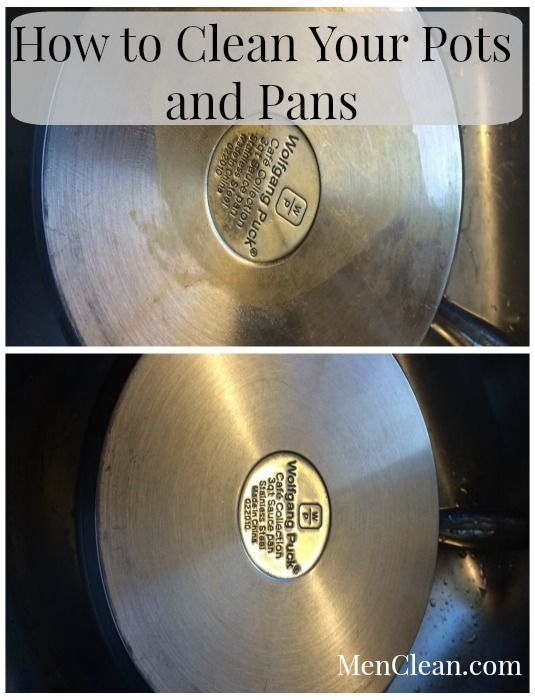 how to clean pots and pans with vinegar