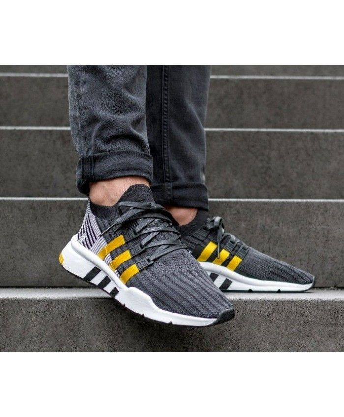 quality design 8682d 06e9f Adidas Equipment Support Mid ADV PK Black Yellow White Fashion Trainers