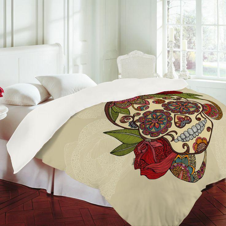 Valentina Ramos Sugar Skull Duvet Cover