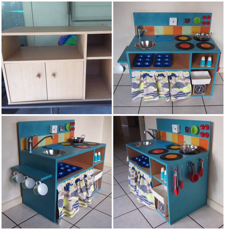 DIY Kids Kitchen From TV Cabinet