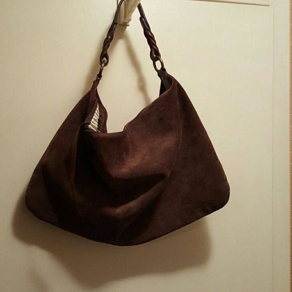 Gap Handbag Brown suede with leather  strap in good condition 18 x 12 inside is clean GAP Bags Shoulder Bags