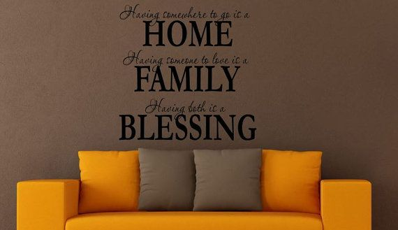 Family Wall Decal Wall Quote Having Somewhere by CustomVinyl4You