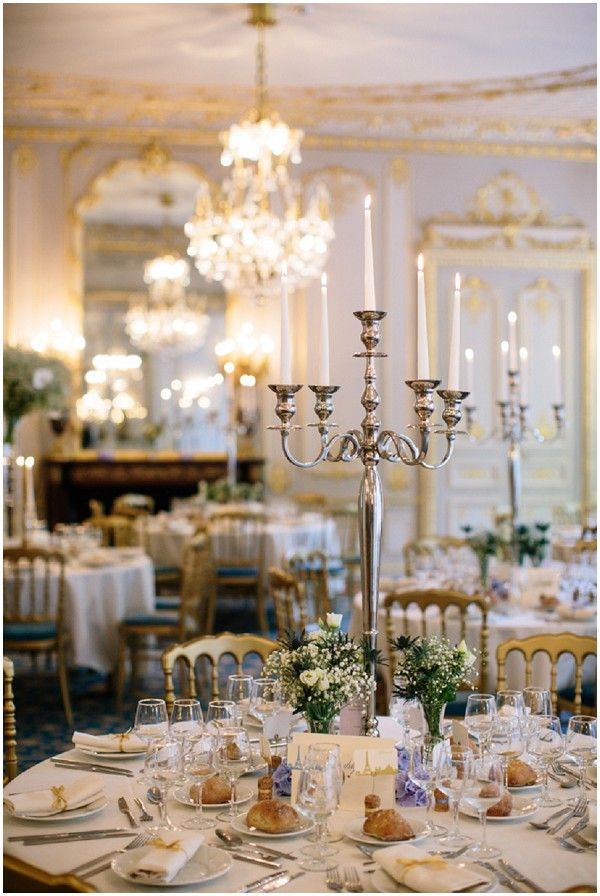 Elegant wedding venue reception | Photography © Ian Holmes on French Wedding Style Blog with styling by Fête in France