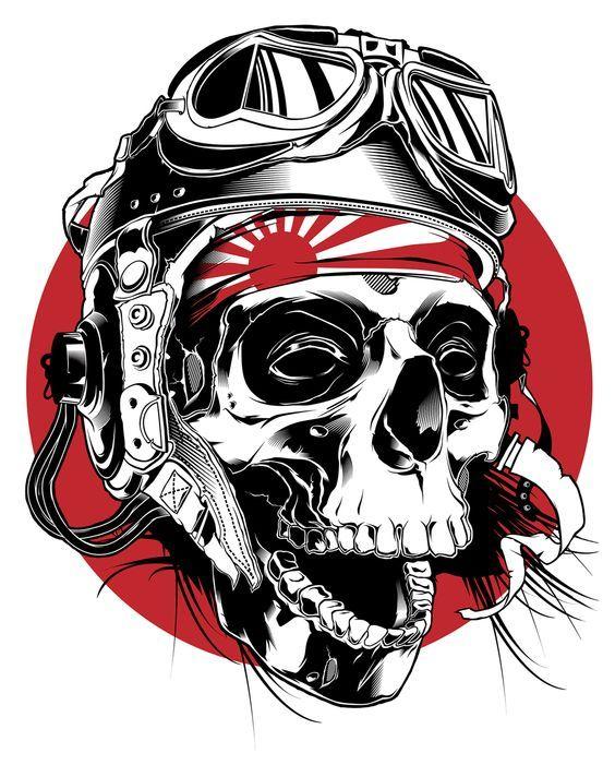 Kamikaze Pilot illustration on Behance: