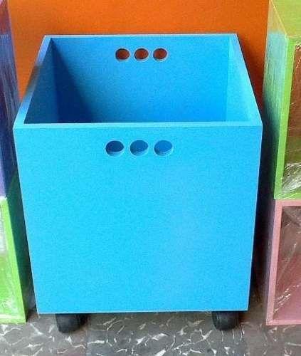 mueble cubo organizador infantil guardajuguetes con ruedas