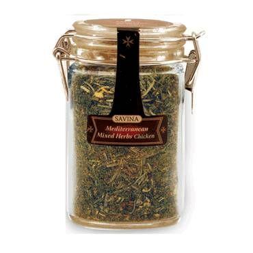 Amestecul de plante aromatice mediteraneene pentru pui, de la Savina, va va aromatiza preparatele din carne de pui, oferind un gust deosebit.