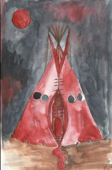 The red tepee. TempleTentStoreTemplesTentsile ... & 50 best Red Tent Temple images on Pinterest | Sacred feminine ...