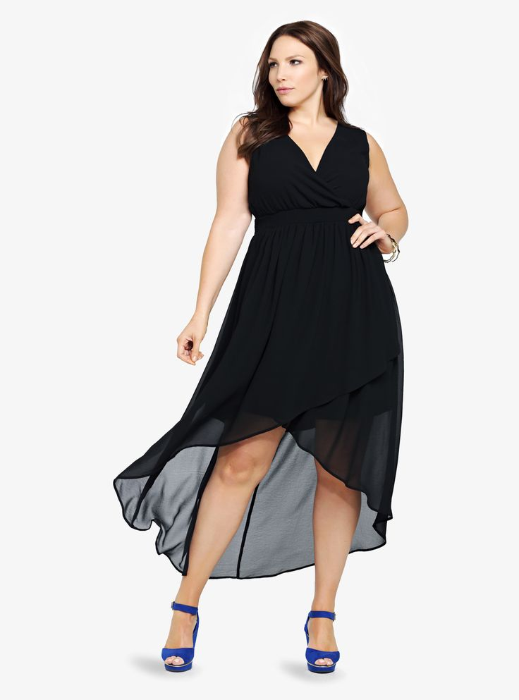 I have and love this! I love how easy it is to dress up or down. Chiffon Faux Wrap Hi-Lo Dress
