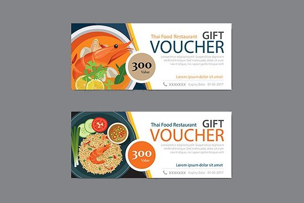 thai food restaurant discount coupon template