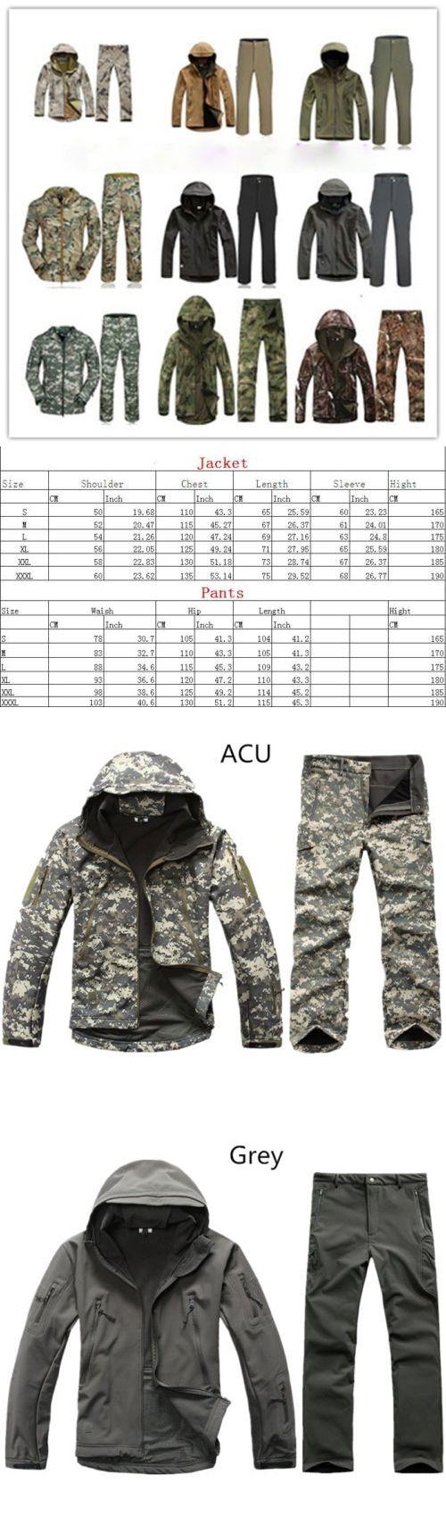 Coats and Jackets 181372: Mens Winter Outdoor Jacket Waterproof Tad Coat Hunting Shark Skin Coat +Pants BUY IT NOW ONLY: $41.84