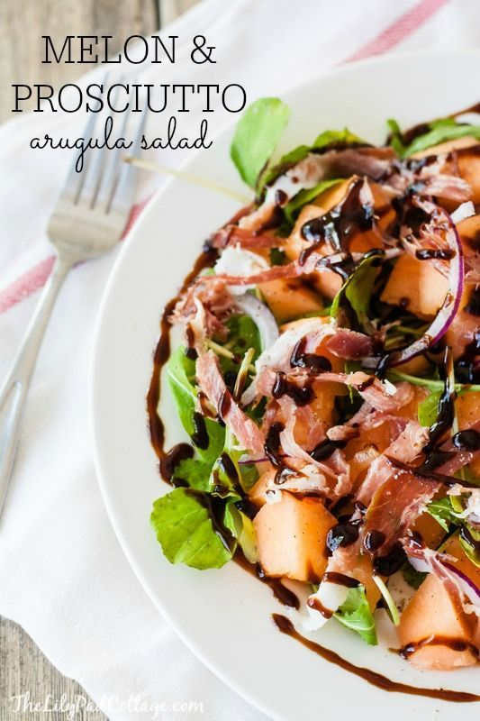 Melon Prosciutto Salad - so easy and healthy too.  Paleo and gluten free