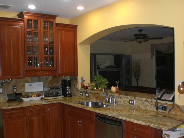 Kitchen Cabinetry Granite Top Backsplash Cut Out