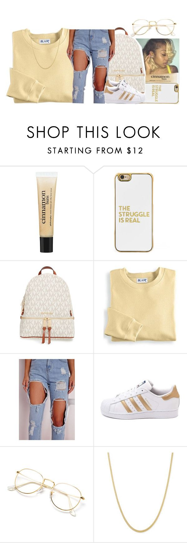 """Gravel Pit ~ Wu-Tang Clan"" by retrovintagepizza ❤ liked on Polyvore featuring UGG, philosophy, BaubleBar, MICHAEL Michael Kors, Blair and adidas"