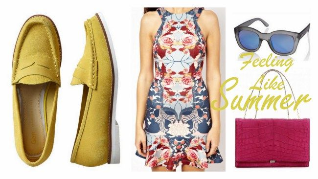 Day 5 – One Day Closer To Summer!  #summer #dress #loafer #shoes #asos #yellow