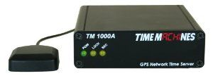 TM1000A GPS Network Time Server by TimeMachines. $299.99. The Time Machines GPS Network Time Server is a simple to use GPS based time server that will supply accurate time for all computers and time keeping devices on the network.  By placing a time server on the local network, (S)NTP time packets are provided without requiring systems to go to the Internet to get a Stratum 1 time synchronization.  The system uses an active GPS antenna to maintain the current time as bro...