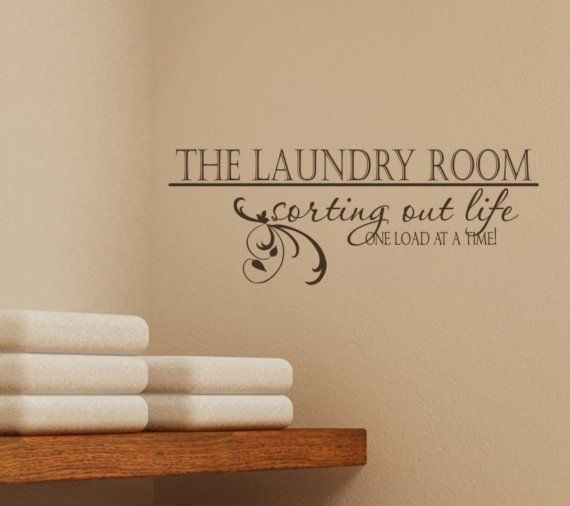 Laundry Room Sorting Out Life Vinyl - Vinyl Wall Decal Words Decals Stickers Art Graphics