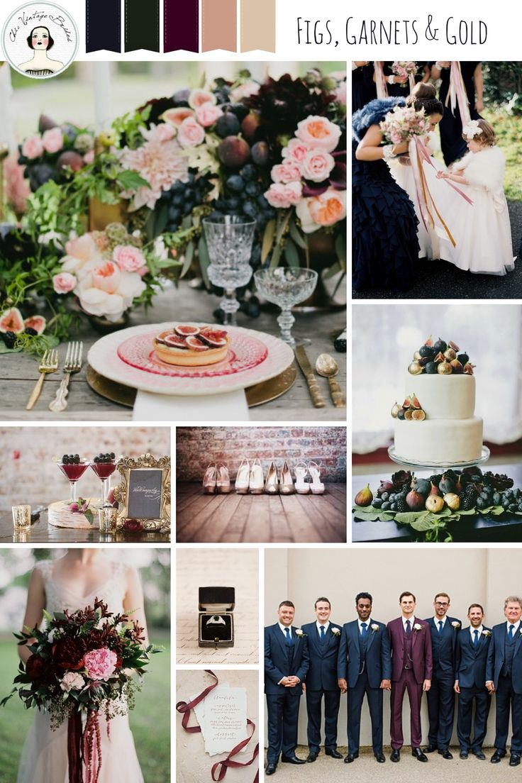 Figs, Garnets and Gold – An Autumn Wedding Inspiration Board in Blush and Opulent Jewel Tones