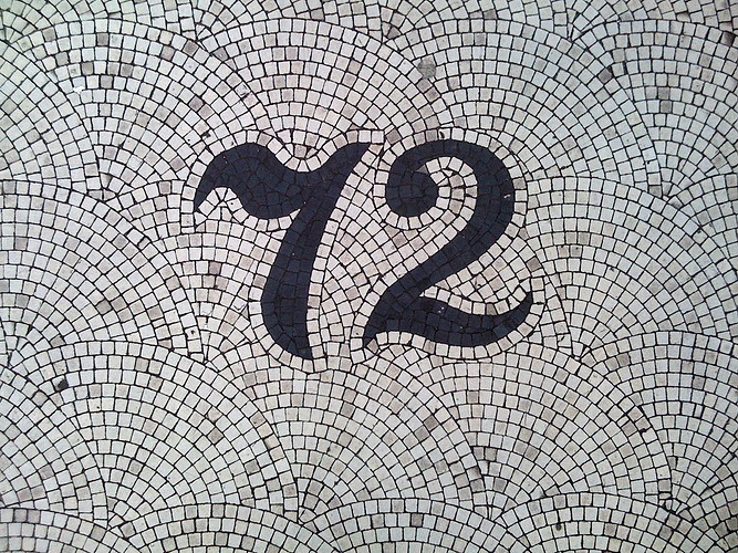 Mosaic: Entrance Way, Old Schools, 72 Mosaics, Cool Ideas, House Numbers, Magic Numbers, Design, 72 Numbers, Houses Numbers