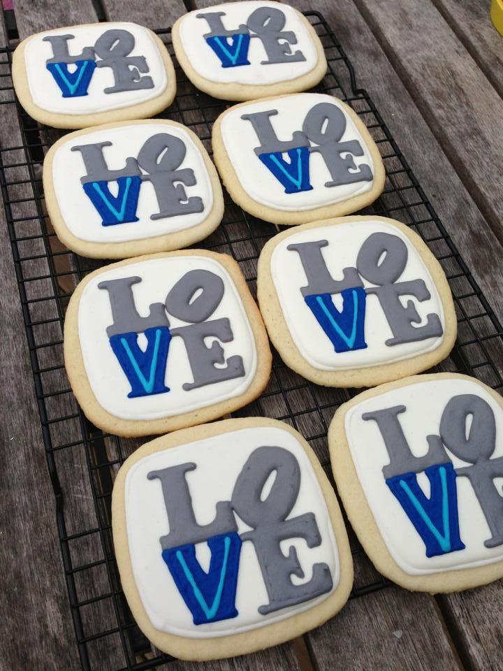 best villanova basketball images champion  custom wedding favors philadelphia love sugar cookies villanova v