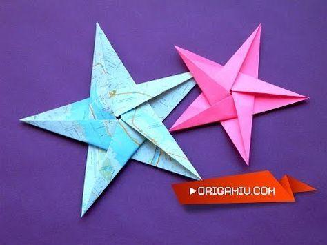 Hágalo Usted Mismo: Tutorial para Estrella de Navidad de 5 Puntas en Origami - YouTube