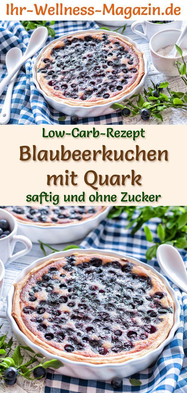 Low-Carb-Blaubeerkuchen mit Quark – Rezept ohne Zucker – Sweet
