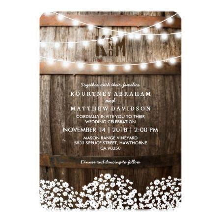 RUSTIC COUNTRY WEDDING | STRING OF LIGHTS CARD - tap to personalize and get yours