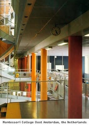 Herman Hertzberger - Edifícios Escolares: Montessori College Oost, Amsterdam.