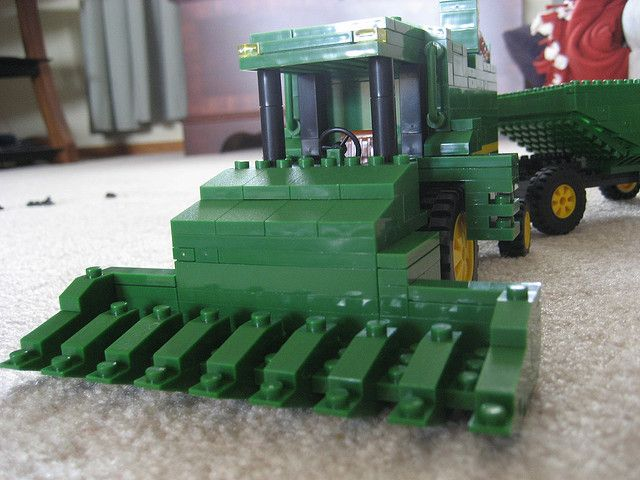 how to buils a lego tractor | lego combine The Best John Deere Lego Structures