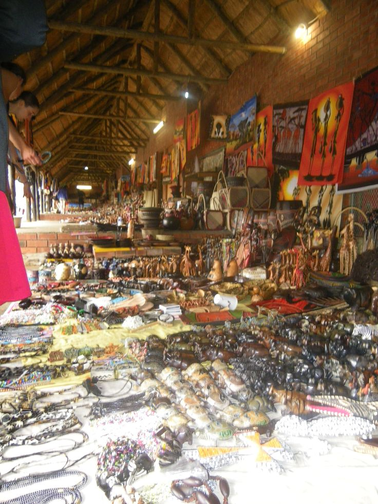 market in St. Lucia, South Africa