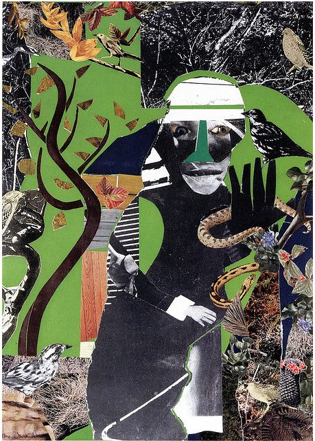 'Conjur Woman' (1971) by artist Romare Bearden (1911-1988). collage, 22 x 16 in. via Art of collage