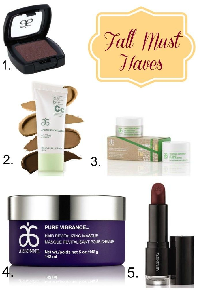Top Arbonne Products for Fall. Your must have colours and products for Fall.