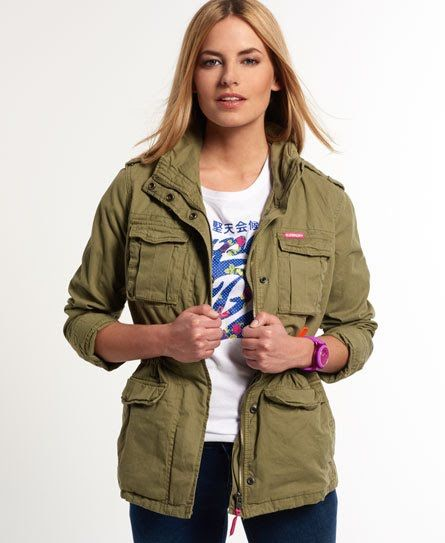 superdry rookie military jacket girly pinterest vestes militaires militaire et vestes. Black Bedroom Furniture Sets. Home Design Ideas