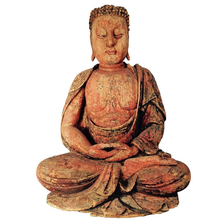 Chinese superb Ming Dynasty red polychromedseated shakyamuni meditation Buddha | 1stdibs.com