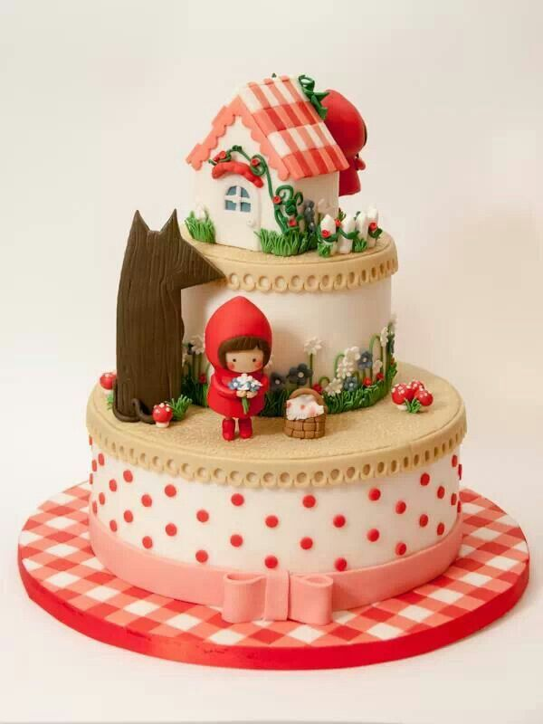 Gâteau le petit chaperon rouge / Little red riding hood