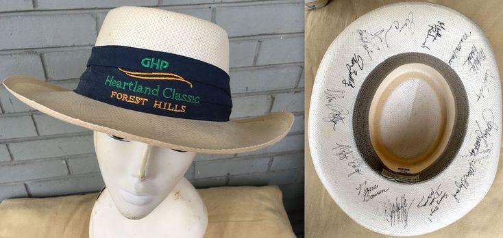 90s Forest Hills LPGA Heartland Classic Golf Alan Shepard Autographed Kangol Hat #Kangol #StrawGolf