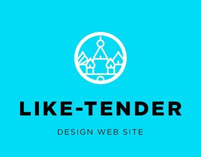 """@Behance portfolio: """"Like-tender web-site"""" http://be.net/gallery/36764151/Like-tender-web-site"""