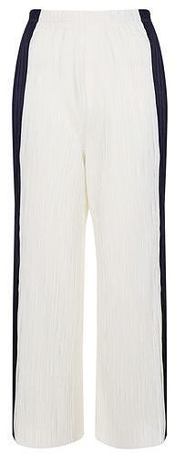 Womens black and white side stripe pleat trousers - monochrome, monochrome from Topshop - £34 at ClothingByColour.com