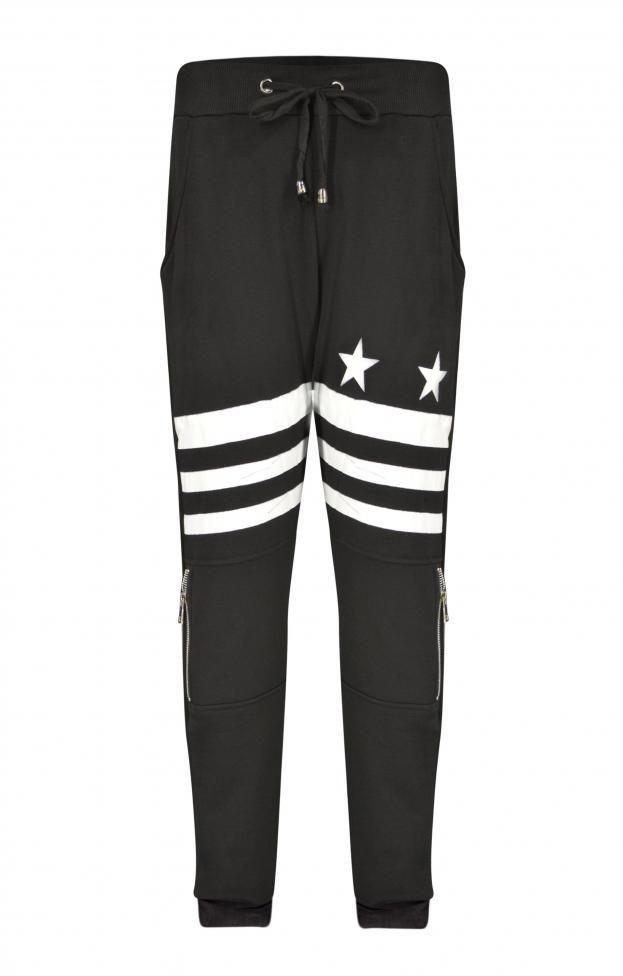Ανδρικό παντελόνι φόρμας με ριγέ στάμπα | Φόρμες Αθλητικές -