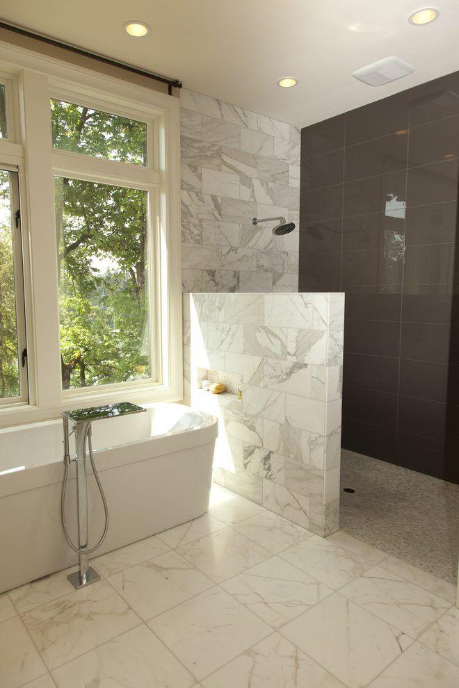 Best 25 half wall shower ideas on pinterest bathroom for Opening glass walls