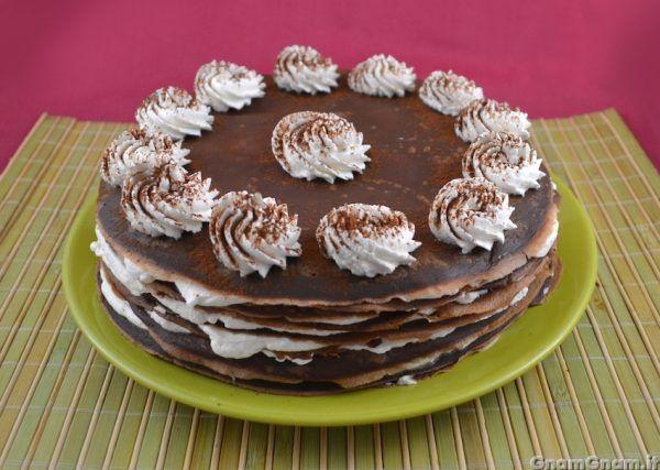 Ricetta Torta Al Cioccolato Gnam Gnam.Torta Di Crepes Al Tiramisu Ricetta Idee Alimentari Torte Ricette